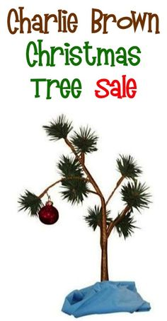 Charlie Brown Christmas Tree Sale: $13.73!!  {add it to your Christmas decor, or give it as a fun gift!} #trees