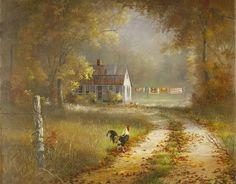 Print of Bettie Hebert-Felder     'The road home'
