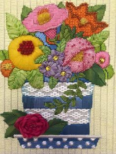 beautiful floral needlepoint