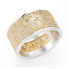 Ring AMEN Vater Unser vergoldeten Silber 925 ITALIENISCH | Online Verfauf auf…