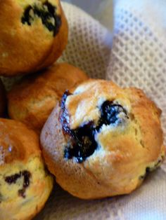 Simple Blueberry Muffins. Just made these and they are yummy.