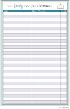 IHeart Organizing: Free Printables