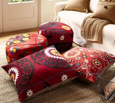Suzani Throws For Beds   how to, suzani, folk, pattern, needle, embroidery, throw, blanket, bed ...