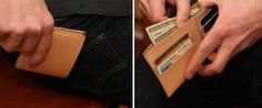 Art of Manliness Leather Wallet Tutorial Leather Wallet Pattern, Slim Leather Wallet, Handmade Leather Wallet, Leather Gifts, Leather Craft, Mens Leather Accessories, Edc Wallet, Diy Gifts For Men, Wallet Tutorial