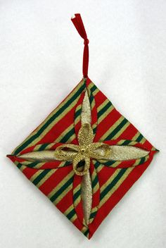 Quilted Christmas Ornament  Cathedral Window 507 by NoelBelles, $4.50