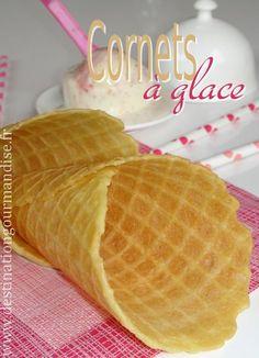 Destination gourmandise: Cornets à glace en gaufrette Cas, Waffle Shop, Sorbets, Scones, Waffles, Biscuits, Bakery, Brunch, Ice Cream