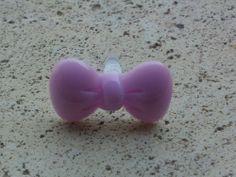Tappo antipolvere fiocco lilla per jack cuffie auricolari 3.5mm universale