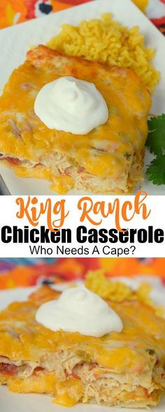 King Ranch Chicken Casserole is pure comfort food! Loads of cheesy chicken, tort… King Ranch Chicken Casserole is pure comfort food! Loads of cheesy chicken, tortilla strips, and deliciousness blend together in this awesome meal. King Ranch Chicken Casserole, Chicken Tortilla Casserole, Noodle Casserole, Chicken Soup, Chicken Salad, Great Recipes, Favorite Recipes, Amazing Recipes, Easy Recipes