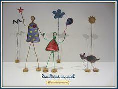 Manualidades Con i de idea: Esculturas de papel