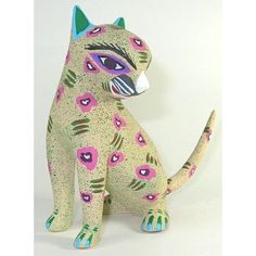 Cat ~ 5 1/4 Inch Oaxacan Wood Carving Home