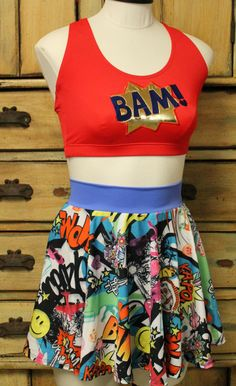 Avengers Comic Con womens outfit tank singlet running bra and Muffin top free skirt disney superhero half marathon avengers by suestevepat on Etsy