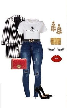 70 great office outfit ideas with blazer 2019 00130 Related Curvy Fashion, Love Fashion, Plus Size Fashion, Autumn Fashion, Fashion Looks, Womens Fashion, Cheap Fashion, Classy Outfits, Chic Outfits