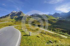 Driving along Silvretta Alpine road