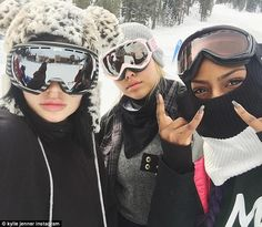 She's snow talented! Kylie Jenner joined friends Jordyn Woods and Justine Skye for a winte...