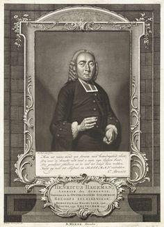 Pieter Louw | Portret van de predikant Henricus Hageman, Pieter Louw, Caspar Jacobsz. Philips, C. Brandt, 1760 | De predikant Henricus Hageman, gevat in een ornamentele omlijsting.