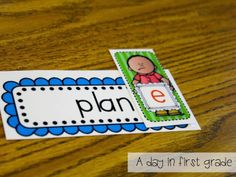 """Bossy """"e"""" Activity (from A Day in First Grade)"""
