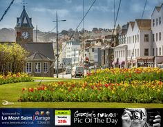 St Peter Port's Weighbridge roundabout now in full bloom. #LoveGuernsey   http://chrisgeorgephotography.dphoto.com/#/album/cbc2cr/photo/22314486  Picture Ref: 25_03_13 — at St. Peter Port, Guernsey.
