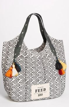 Feed India Tote by Rachel Roy. FEED bags have come a long way! I'm loving the new stylish selection and FEED's mission. For every bag sold, FEED Projects provide 100 school meals to children in India. :)