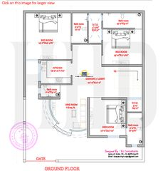 Modern house plan with round design element kerala home House Plans Mansion, Duplex House Plans, Family House Plans, Bungalow House Design, Dream House Plans, House Floor Plans, House Map Design, Bungalow Floor Plans, Simple House Plans