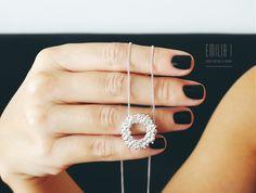 Pendant. Sterling silver. Handmade jewelry by Emilia I. https://www.facebook.com/emiliai.joyas/
