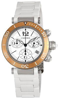 Cartier Women's W3140004 Pasha Rubber Strap Watch: beautiful Watches