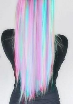 So fun! A full head of pastel #hairchalk