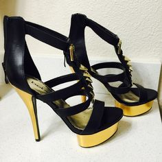 Perfect condition high Bebe heels Worn only twice high heels from Bebe. #NoTrades bebe Shoes Heels