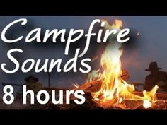 Listen with headphones for good sleep:  Campfire and Camp Wilderness Sounds : 8 HOURS LONG