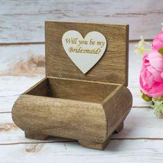 Usted será mi Dama de honor de regalo caja de por HappyWeddingArt