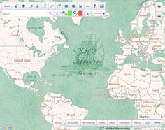 Scribble Maps: generate maps in many different styles (shown: Pirate, under MapBox) and add annotations, drawings, and images.