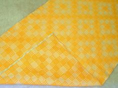 Yellow!!! Tablerunner or Bedrunner...you decide....#Vintage #Yellow #Check #Handwoven #Cotton #Greek #BasRelief  #TableRunner #BedRunner #TableDecor  #BedroomDecor #Geometric #reversible #cottageChic #country #Mediterranean #HomeDecor by #VintageHomeStories Moroccan Decor, Moroccan Bathroom, Yellow Table, Bed Runner, Rustic Shabby Chic, Floor Decor, Vintage Yellow, Cottage Chic, Vintage Home Decor