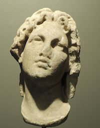 Hellenistic Marble Head of Alexander the Great - LM.001 Origin: Greece Circa: 323 BC to 31 BC