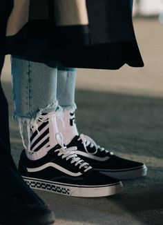 Off white. vans. ripped jeans