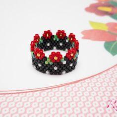 Bead Loom Patterns, Beading Patterns, Beaded Rings, Bead Crochet, Loom Beading, Beads, Jewelry Ideas, Rings, Jewerly