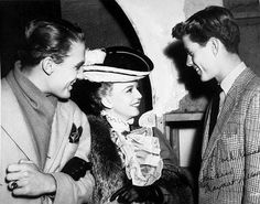 Young Jack Kennedy meets actress Margareth Sullivan