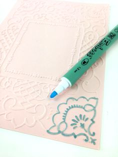 Wonderful use of ZIG Embossing pens by Anna Griffin!