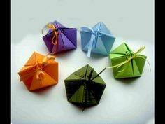 """Origami gift box. Origami Box """"cindy"""" - 9 Corners. Great ideas for Christmas gifts. - YouTube"""