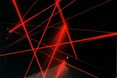 """Rudolph"", lasers, fog. Video. Works by Christopher Musgrave.    Comments (0) Uncategorized"