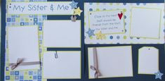 12x12 Premade Scrapbook Pages  MY SISTER & ME   by JourneysOfJoy