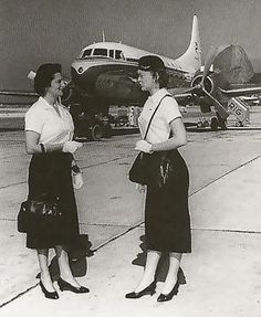 VARIG air hostesses, 1950s::: | VARIG | :::