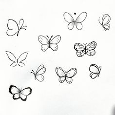 Tiny Tattoos For Girls, Cute Tiny Tattoos, Dainty Tattoos, Little Tattoos, Symbolic Tattoos, Pretty Tattoos, Mini Tattoos, Small Tattoos, Butterfly Drawing