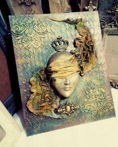 Klair V Mixed Media Artist Instinct Mixed Media Canvas, Mixed Media Collage, Collage Art, Collage Techniques, Mixed Media Techniques, Altered Canvas, Altered Art, Art Journaling, Vogel Silhouette
