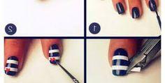 Cute sailor nail design