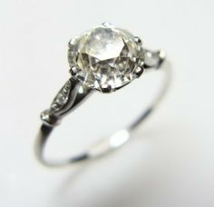 Wedding Ideas: vintage-ring-diamond-silver