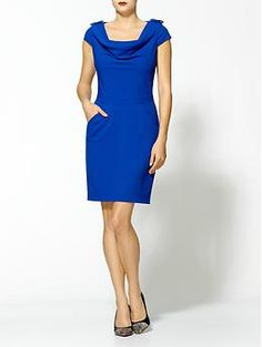 Calvin Klein Drape Neck Dress | Piperlime