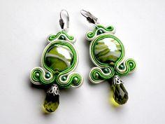 Green Tears - soutache - sutasz w Bajobongo na DaWanda.com