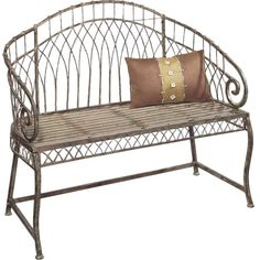 I pinned this Rosario Garden Bench from the CBK event at Joss and Main!