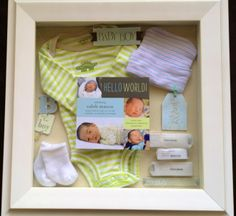 Caleb's newborn shadow box, done by yours truly. Now, to start Little Miss Mace's...