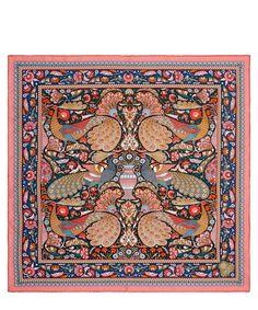 Liberty Logo, Liberty Print, Liberty Scarf, Designer Scarves, Liberty Of London, Vintage Scarf, Mural Art, Square Scarf, Mosaic Tiles