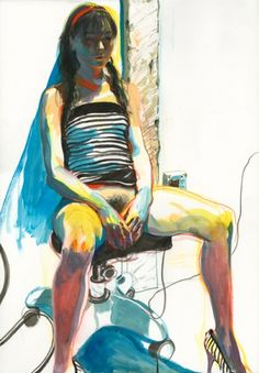 James Jean, Sasha Grey, ink and pastel on paper, 20 x 30 inches, 2008.